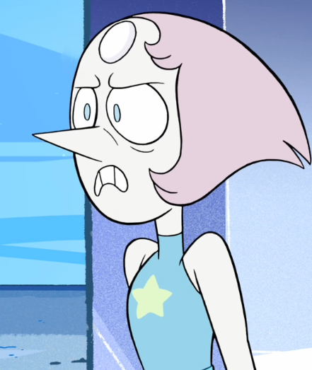 Pearl angry face